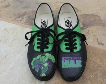 Hand Painted Shoes - The Incredible Hulk