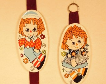 Vintage--1975-Raggedy Ann and Raggedy Andy-Wall Hangings-Hallmark