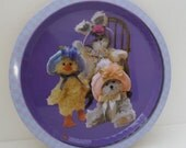 Vintage 96's Boyds Bear Collectible Tray Metal