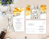 Fall wedding invitation s...