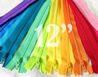 12 inch zippers ykk zippers assorted zippers nylon zippers colorful zippers 12 inch zips 12 ykk zips wholesale zippers sampler pack zipper