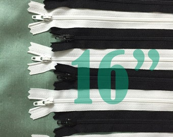 black zippers 16 inch zippers ykk zippers assorted zippers nylon zippers 16 inch zips white zippers sampler pack zipper