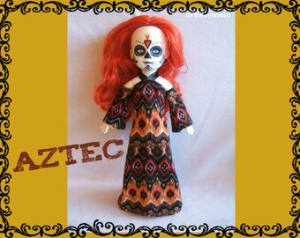 SALE = Living Dead Doll Clothes - AZTEC Handmade Voo Doo Gown - by dolls4emma
