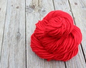 Pure pre-yarn - 100 Percent wool  red pencil roving