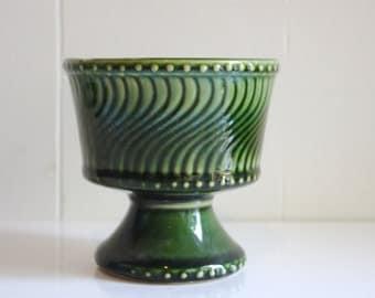 Vintage McCoy Forest Green  Vase or Urn