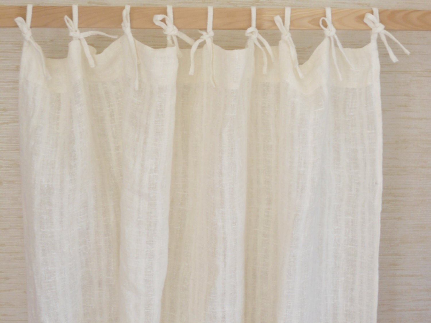 Reserved curtain panel washed natural linen by cikucakuu on etsy