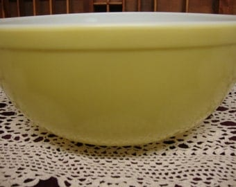 Yellow Pyrex Mixing Bowl