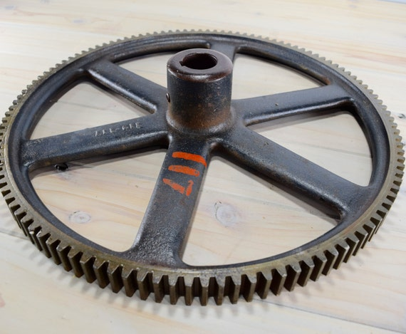 Cast Iron Wheels And Gears : Cast iron wheelcast gear machine steampunk large