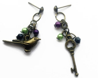 Malificent Inspired Vintage Gold Dangle Earrings