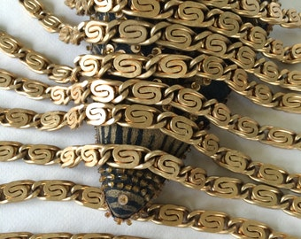 Vintage Brass Scroll Chain, XL Scroll Chain, 22mm, 22""