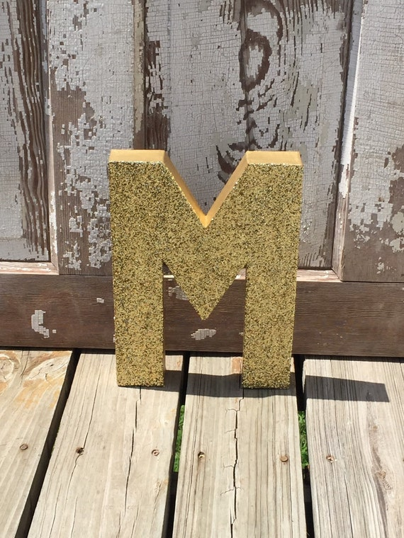 Decorative Gold Glitter 12 Stand Up Wall Letters Photo