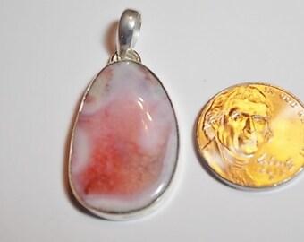 Vintage Sterling Silver Semi-Precious Stone Pendant