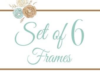 Set of 6 Frames- You Pick Any 8x8 Design