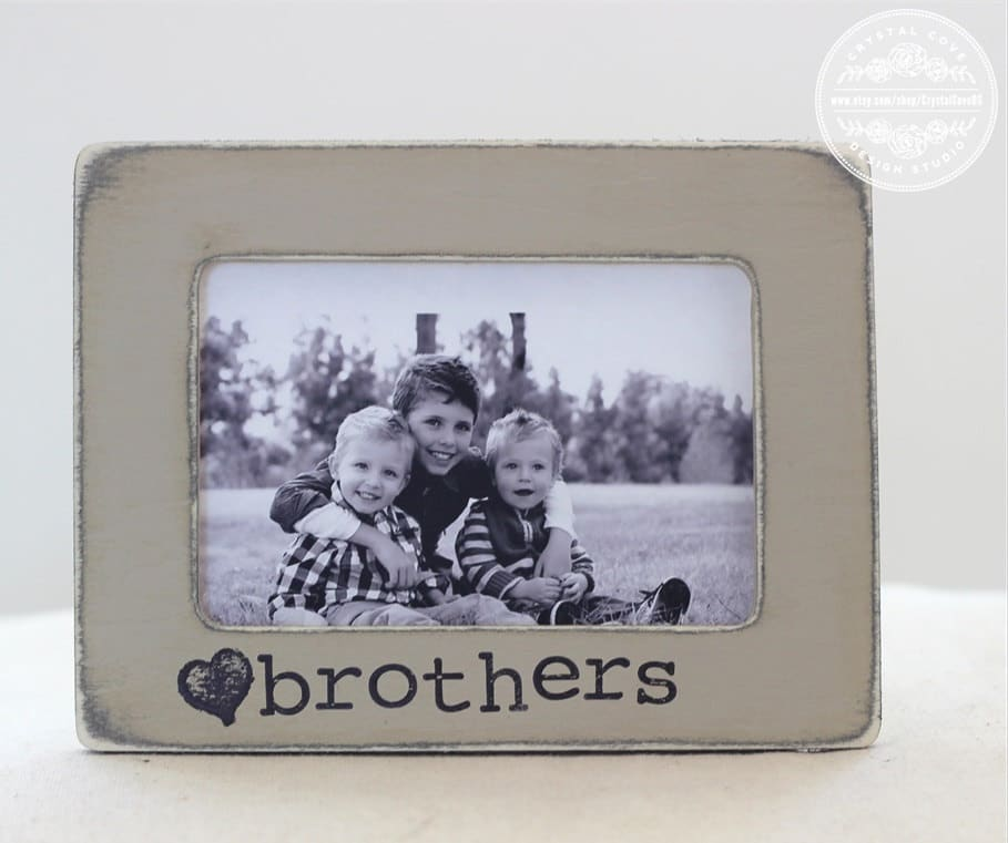 Brothers Picture Frame Gift New Baby Boy Frame Gift Birth