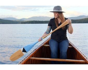 Blue Wave Hand Painted Canoe Paddle