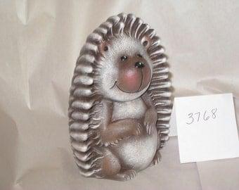 "Ceramic Baby Tasha Hedgehog, hand painted by Joan Davis 6.5"" t, Clay 3768"