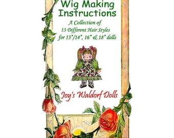Joy's Waldorf Dolls Wig Making Instructions