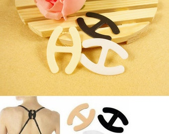 Invisible Bra Buckle Accessory for Shoulder Strap Racerbacks and Tank Tops