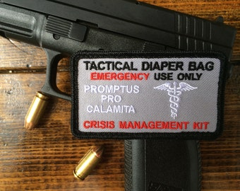 Tactical Diaper Bag Patch ~ Gun Metal Grey