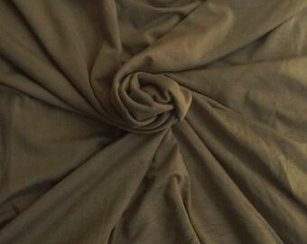 Modal Spandex Fabric Jersey Knit by the Yard Mocha 10-14