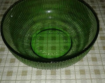 Vintage E.O. Brody Green Glass Bowl