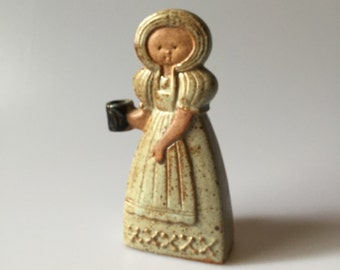 Alfred Knobler Ceramic Girl Figurine Candle Holder