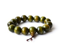 Wood Bracelet, Green Sandalwood, Mala Bead, Prayer Bracelet, Wood Bracelet, Wood Mala Bead, Buddhist Bracelet, Green Mala, Sandalwood Mala