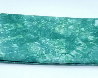 Hand dyed fabric, 1.0 x 1.1m, bottle green, cotton