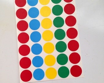 Round Dot Vintage Stickers, Color Coding Labels, Wafer Seals