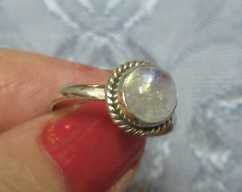 Moonstone Sterling Ring Size 9 1/2