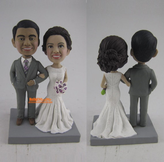 bobblehead wedding cake topper custom bobblehead and groom cake topper bobble mr 1994