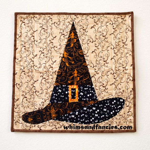 Halloween Witch Hat Paper Piecing