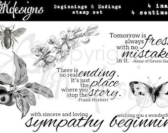Beginnings & Endings Digital Stamp Set