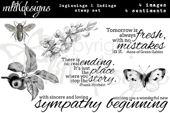 Beginnings & Endings Digital Stamp Set