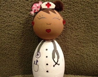 Kawaii Wooden Kokeshi Nurse
