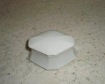 Vintage Austrian Box, Austria blanc De Chein  porcelain box, Trinket box,Jewelry Box, Keepsake Box, ring box,gift box