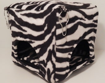 Cuddle Cubicle in Zebra with Black