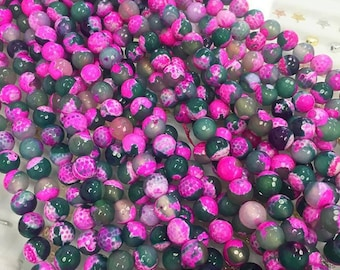 10mm Pink/Green Fire Agate Faceted, 12mm Pink & Green Fire Agate Beads, Fire Agate Bead, 10mm Fire Agate, 12mm Fire Agate,Beads Fire Agate,