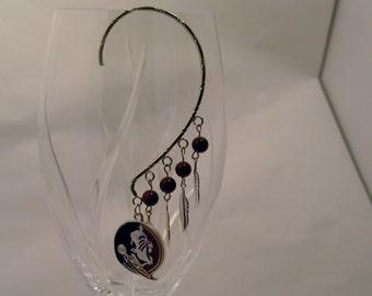 FSU Earrings, FSU Seminole Earrings, Seminole Earrings, Florida State Logo Earrings, FSU Ear Cuffs, Florida State Jewelry