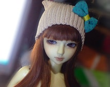Ball-jointed doll cat beanie - BJD hat