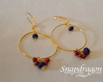 1001 Nights Collection - Gold jewel beaded hoops