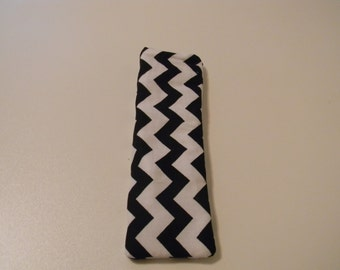 Eyeglass Case - Black Chevron