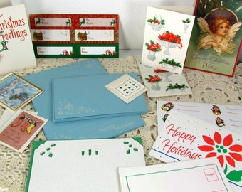 Christmas Stationery and Tags Vintage