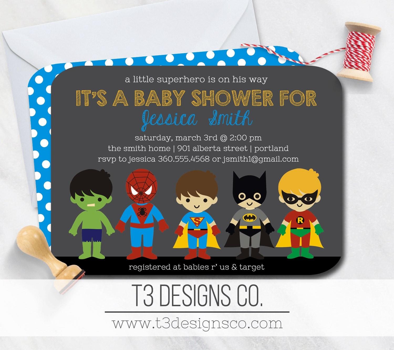 superhero baby shower invitationsuper hero baby shower