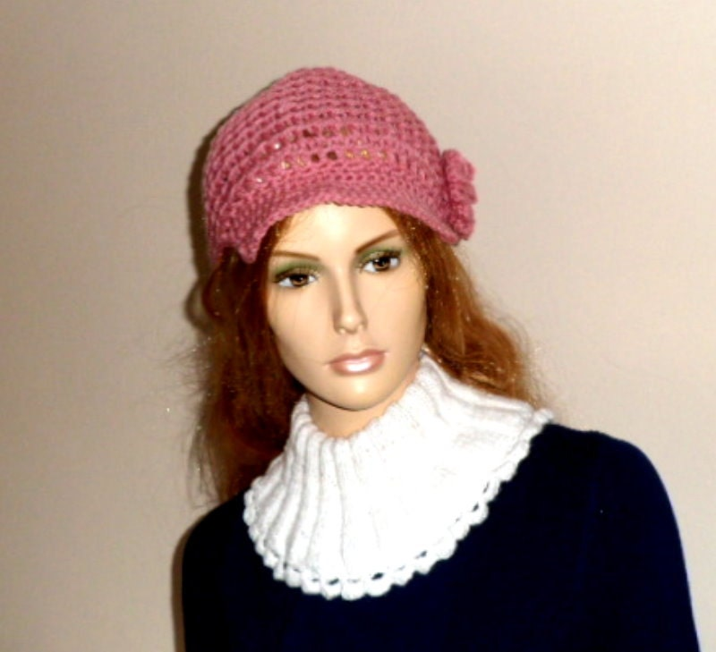 LADIES HAT With Peak. Hat CROCHET pattern.