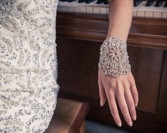 Vintage Style Crystal Bridal Cuff Bracelet