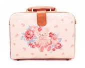 Handmade Brown Square Protector Leather Bag, Ipad Bag, Notebook Bag, Kawaii Bag, Teddy Bear, Lolita, Canvas Bag, Leather Handbag