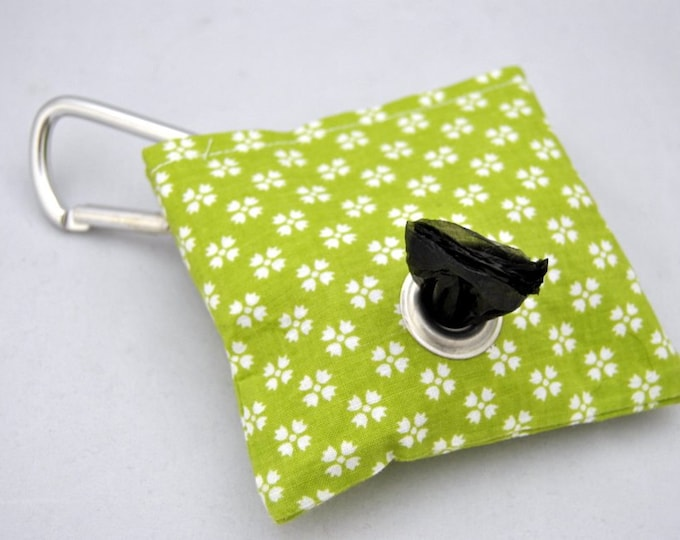 Floral Lime Poop Bag Pouch