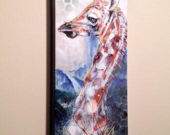 "Giraffe Canvas Art Print | Canvas Art Print | Giclee Canvas Reproduction of ""Deep Lagoon"" by Black Ink Art"