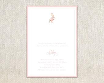 Beatrix Potter's Peter Rabbit Flopsy girls kids birthday party invitations